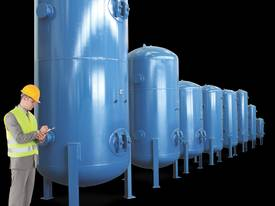 530 LITRE VERTICAL AIR COMPRESSOR RECEIVER TANK - picture0' - Click to enlarge