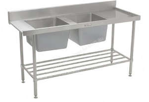 SIMPLY STAINLESS 1650x700x900 D/W ENTRY 2 BOWL
