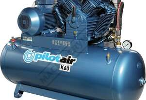 K60 Industrial Pilot Air Compressor 500 Litre / 15hp 60cfm / 1698lpm Piston Displacement
