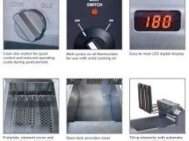 Electric Fryer Austheat AF812 Single Pan 2 Baskete - picture2' - Click to enlarge