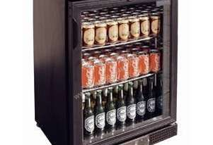 Polar DL815-A - Bar Display Cooler Black Single Hinged Door