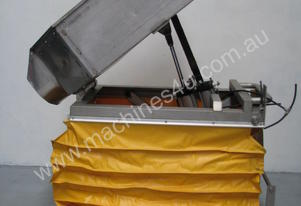 Pneumatic Scissor Lift With Stainless Tipping Bin