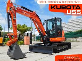 U55 5.5 Ton Excavator 10hrs with Rubber pads #2189