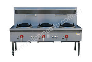 Three Hole Wok Table 24 Jet Chimney Burner