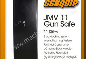 JMV 11 Gun Safe Rifle Firearm Storage Lock Box
