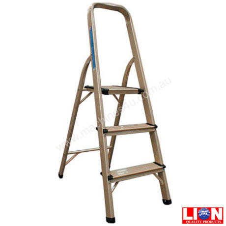 Stupendous Alloy 3 Step Ladder Fold Up 100Kg Onthecornerstone Fun Painted Chair Ideas Images Onthecornerstoneorg