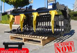 2000 mm Grapple Rock Bucket suit Bobcat skid steer
