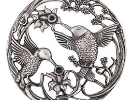 Pewter Lid - Hummingbird - picture1' - Click to enlarge