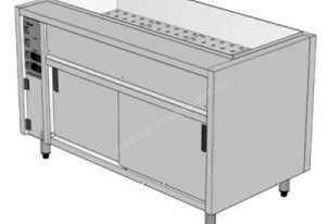 Culinaire CH.CBMH8.UR.LH Under Bench Bain Marie and Hot Cupboard With Radius Corners - 8 Module