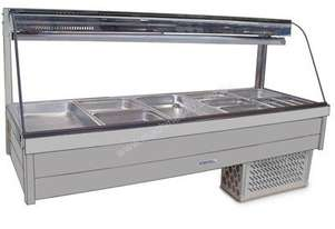 Roband CRX25RD Curved Glass Cold Food Bar