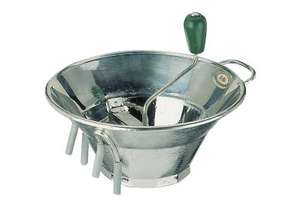 Paderno Tinned 310mm Food Mill with 3 Blades (1.5/2.5/4mm) - PD2573-31