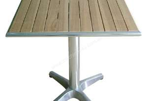 Bolero 60cm Square Ash Table with Aluminium Rim & Pre-treated top 3kg base