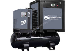 15kW (20HP) EBP-20 Screw Compressor with 500 Litre tank and Dryer