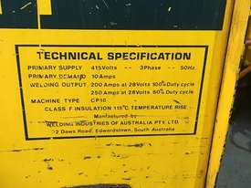 WIA MIG Welder 250 Amp Weldmatic Utility CP18 SWF W17 - picture3' - Click to enlarge