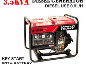 3.5KVA Diesel Generator single phase 240V Electric key start plus Remote - picture4' - Click to enlarge