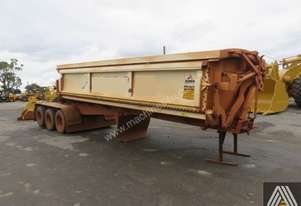 2015 AZMEB TRI AXLE SIDE TIPPING 'A' TRAILER