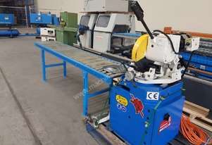 Cold Saw SOCO MC-370F 2016 Model AS NEW, Heavy Duty, Made in TAIWAN Incl 3m Outfeed Roller Table