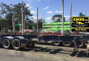 Krueger Skel Logging Trailer, Air Bag, Scales. EMUS TS408