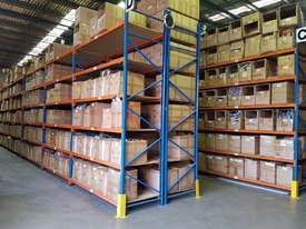 Used 3.6m High Long Span Racking Shelving With Boards 3600 x 900 - picture2' - Click to enlarge