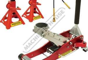 TJA-2A Professional Hydraulic Alloy Trolley Jack & Axle Stands Package Deal Jack - 2000kg (2 Tonne)