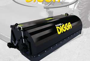 Digga Cleana 1700mm Bucket Broom Standard Flow 100% Poly Brush