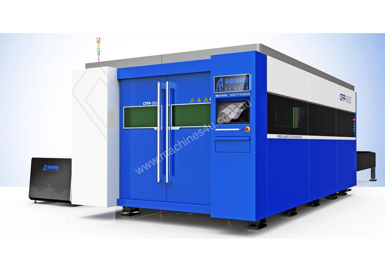 New Yawei-CKY fiber laser - 1.5m x 3.0m bed, 1kW IPG, & Raytools cutting head ~ New Price Point ~