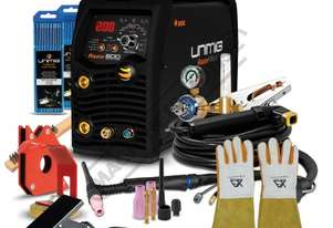 RAZOR DIGITAL PULSE AC/DC 200 Inverter TIG/ARC Welder Package Deal 10-200A, #KUM-M-RTIG200ACDC Inclu