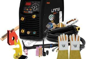 RAZOR DIGITAL PULSE AC/DC 200 Inverter TIG/MMA (ARC) Welder Package Deal 10-200A, #KUM-M-RTIG200ACDC