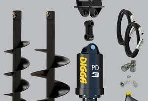Digga PD3 auger drive combo package mini excavator up to 4T