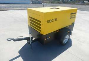 Atlas Copco LUY050-7 180CFM Single Axle Compressor